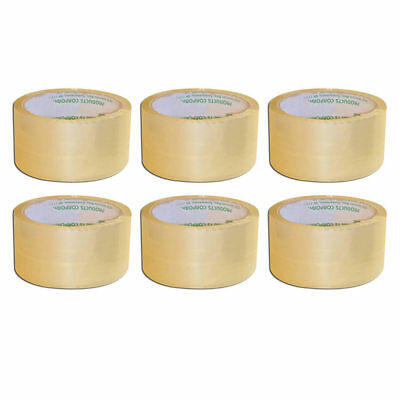 "6 Rolls Box Packing Tape Carton Sealing Clear Shipping Heavy Duty 2"" X 55 Yards"