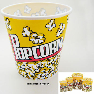Retro Style Reusable Popcorn Bowl Medium Plastic Container Movie Theater Bucket