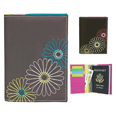Passport Cover RFID Blocking ID Holders Wallet Travel Case Travelon Navy Black !