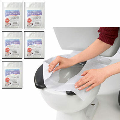 50 Hygienic Toilet Paper Seat Covers Disposable Protector Travel Work Train New