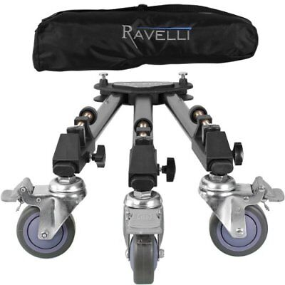 Ravelli ATD Professional Tripod Dolly for Camera Photo Video New