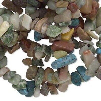 100 x Mixed Gemstone and Glass Chips (Manmade) - LB1153