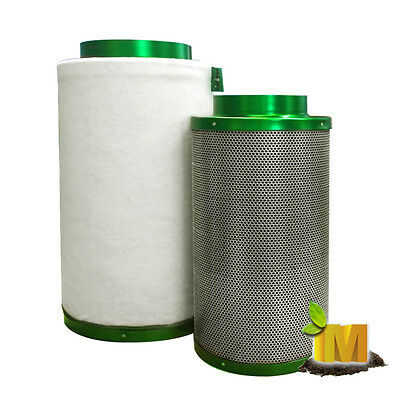 """6"""" Activated Carbon Filter Flesh Clean air thru Hydroponic Grow Light Room Tent"""