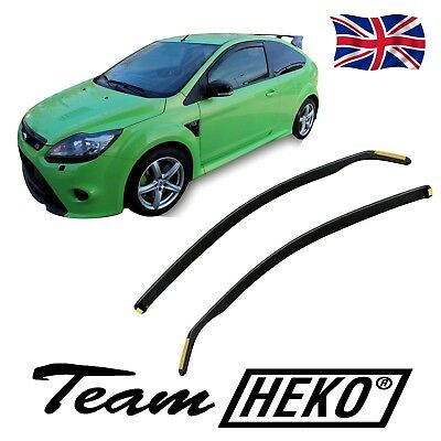 FORD FOCUS ST RS mk2 3 DOORS 2004-2010 SET OF FRONT WIND DEFLECTORS 2pc HEKO