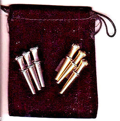 Cribbage Board Pegs 6-Irish Crown-Top, 2-Sizes  4-Different Metals  Velvet Bag b
