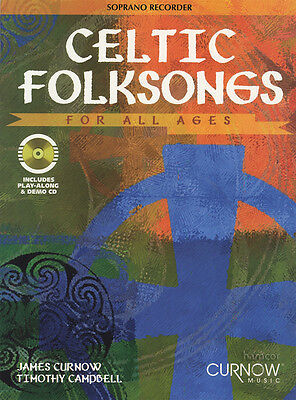 Celtic Folksongs for All Ages Soprano Recorder Sheet Music Book & Play-Along CD