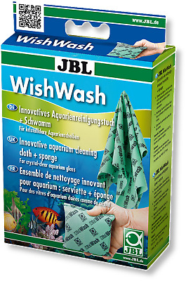 JBL WishWash Cleaning Cloth + Sponge aquarium fish tank glass cleaner wish wash