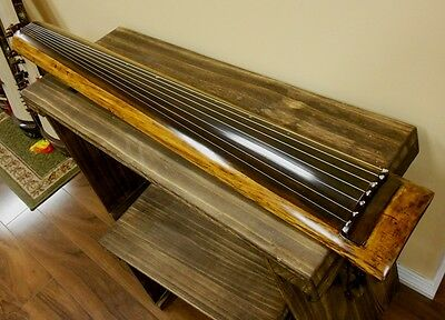 Concert Chinese Aged Fir Guqin 7-stringed Zither Instrument
