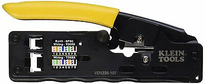 Klein Tools VDV226-107 Compact Ratcheting Modular Crimper