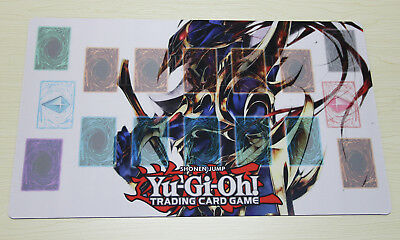 D675# Free Mat Bag Black Luster Soldier Playmat Custom Made YUGIOH Play Mat