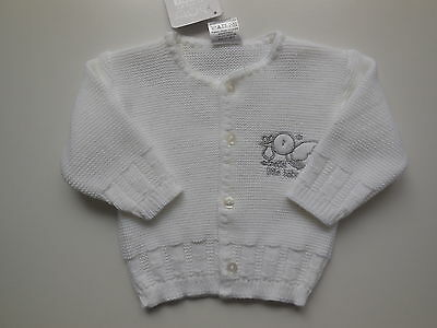 NEW Baby boy or girl knitted cardigan size 00 Fits 3-6 mths *Gift Idea*