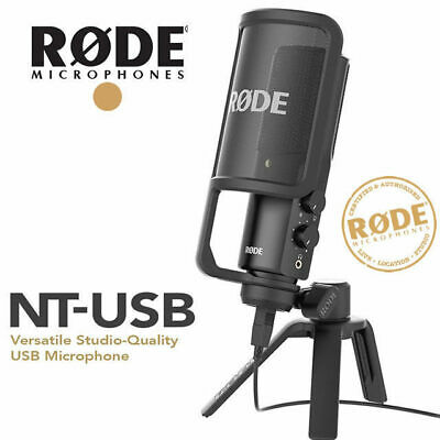 Rode NT-USB Professional USB Condenser Microphone with Pop Filter and Stand