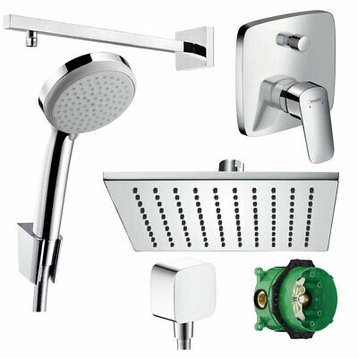 hansgrohe logis unterputz duscharmatur set ibox armatur duschteller 30x30 cm eur 299 00. Black Bedroom Furniture Sets. Home Design Ideas