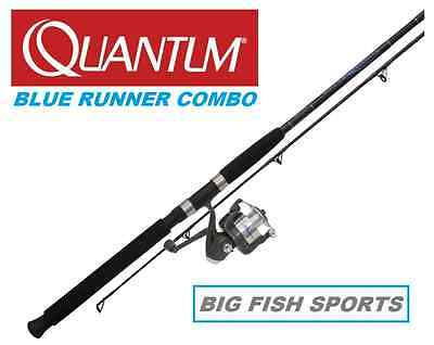 QUANTUM ZEBCO 7' BLUE RUNNER Fishing Combo Spinning Rod and Reel NEW #BLR50702MH