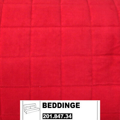 ikea beddinge bezug 3er bettsofa genarp rot. Black Bedroom Furniture Sets. Home Design Ideas