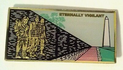 Vietnam Wall Eternally Vigilant Hat Pin  1 3/4""
