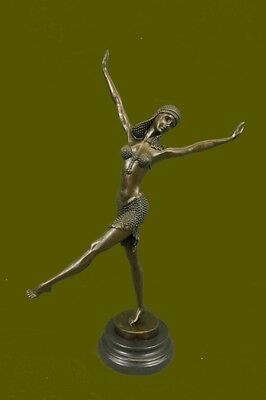 Signed D.H.Chiparus bronze statue, art deco dancer sculpture Hot Cast Figurine