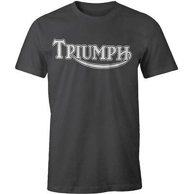 Triumph Classic Logo T-shirt Motorcycle Vintage Classic Bike Cafe Racer Indian