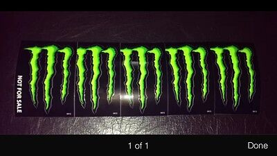 """Monster Energy Drink DECAL STICKER """"4 x 3 inches"""" Lot of 5 Free Shipping"""