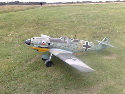 1/5 scale MESSERSCHMITT BF-109 E-4 scratch build R/c Plane Plans 78 in. wingspan