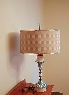 Mid century modern lamps(2) pair with original shades