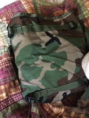 Woodland Camo Radio Pouch Utility Pouch Molle Ii Usgi Military - New Lot Of 2!!!