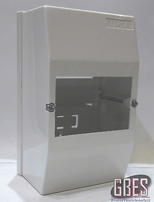 Clipsal 4CC4 Surface Mount Switchboard Enclosure 4 Module Plastic White IP20