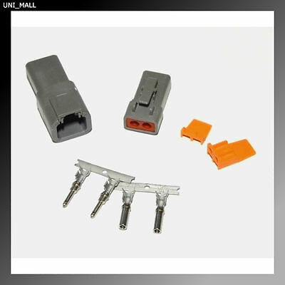Deutsch DTP 2-Pin Genuine Connector Kit, 12-14AWG Stamp Contacts, From USA