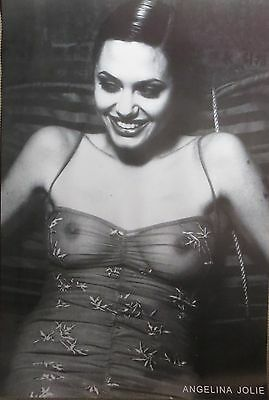 Angelina Jolie-See Thru Top-POSTER-90cm x 60cm-Brand New
