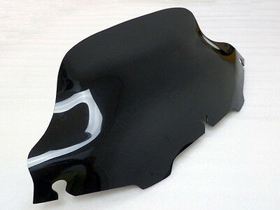 "Smoked Dark 8"" Wave Windshield Windscreen for Harley FLHT FLHTC FLHX Touring"