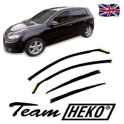DVW31176 VW GOLF 6 mk6  5 DOORS HTB  2008-2012 WIND DEFLECTORS 4pc HEKO TINTED