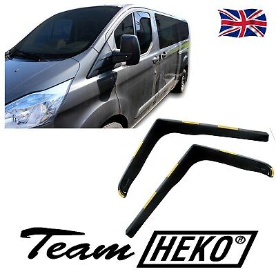 FORD TRANSIT CUSTOM  2013 - up WIND DEFLECTORS 2pc HEKO TINTED