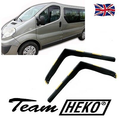 DRE27144 RENAULT TRAFIC 2001-2014 WIND DEFLECTORS  2pc HEKO TINTED