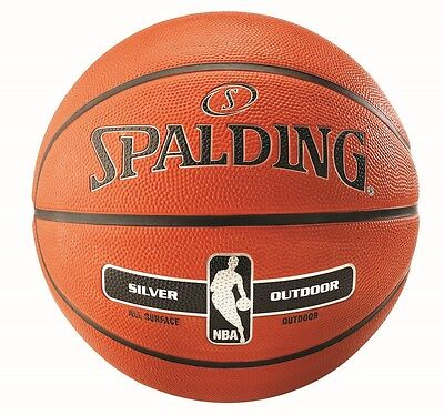 Spalding Silver NBA Outdoor Basketball Size 7 ADULT Tan Basket Ball Inflated