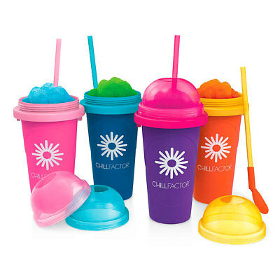 CHILLFACTOR Magic Freez Tutti Frutti Slushy Eis Maker blau lila pink orange