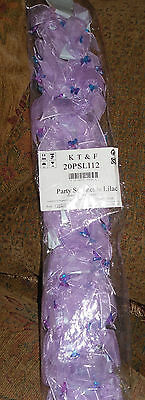 Wholesale 48 Carded Lilac Windmill Ribbon & Butterfly Bead Bobble Pony Hair Tie