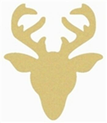Reindeer Style 2 Unfinished MDF Cutout Variety Sizes USA Made Christmas Theme