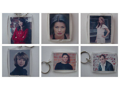 Coronation Street characters, Photo Keyring / bag tag, clear plastic,
