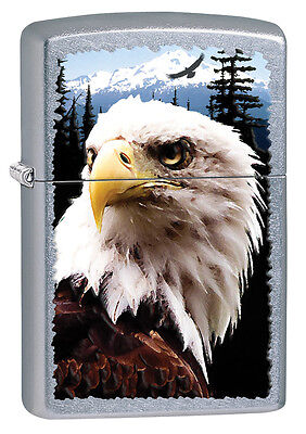 Zippo Windproof Street Chrome Lighter With Bald Eagle, 28462, New In Box