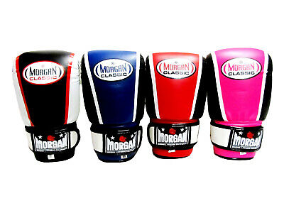 Morgan Boxing Gloves Classic Bag Mitts BLACK BLUE RED PINK punch ever
