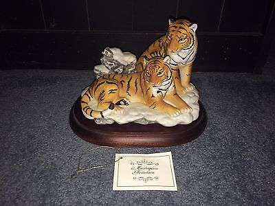 Masterpiece Porcelain Endangered Species Siberian Tigers Home Interiors Homco