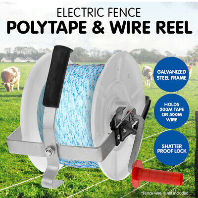 Wind Up Electric Fencing Fence Reel For Poly Tape And Wire Farm Rope Solar