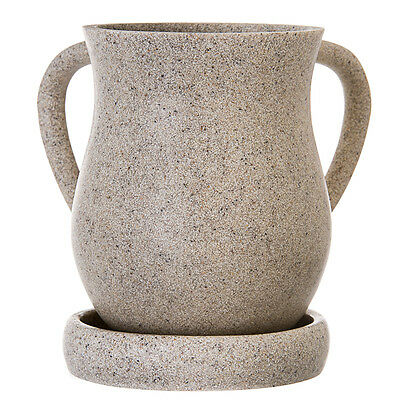 """Wash Cup Sand Poly & Resin With Tray 6.125"""" x 6.625"""", tray: 5.0"""""""