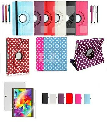 "Rotating PU Leather Case Cover Stand for Samsung Galaxy Tab A 9.7"" SM-T550/T555"