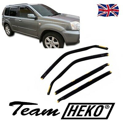 NISSAN X-TRAIL XTRAIL mk1 T30 2001-2007 WIND DEFLECTORS  4pc HEKO TINTED