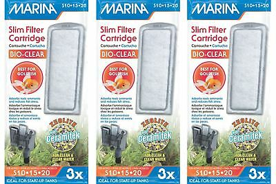 Marina Slim Filter Bio Clear Cartridges 3 packs of 3 BUNDLE