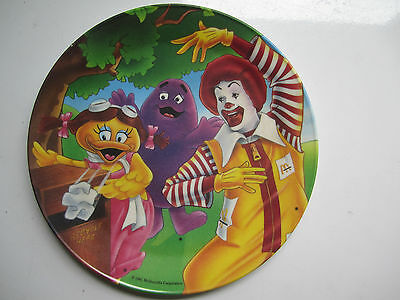 Vintage 1991 McDonald's Collectible Plate Recycle - Grimace