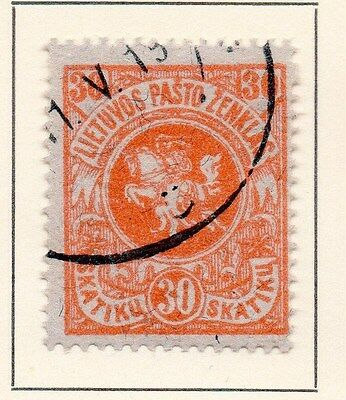 Lithuania 1919 Early Issue Fine Used 30sk. 149596