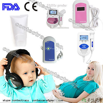 Contec Fetal Doppler Baby Heart Monitor,gel,ultrasound Monitor,ce,fda,promotion!