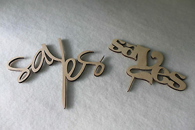 Say Yes Personalised Engagement Gift Wedding CakeTopper  Wood Plaque Signs